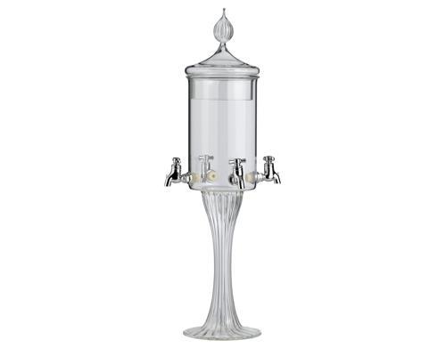Absinthe-Fontaine Glas (4er) mit 4 Hähnche, inkl. Deckel