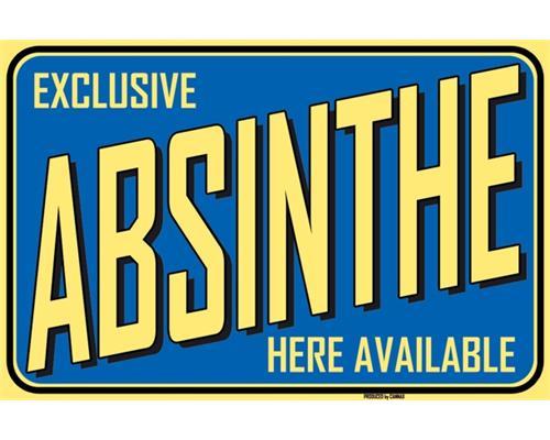Absinthe-Schild blau