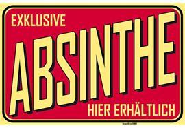 Absinthe-Schild rot