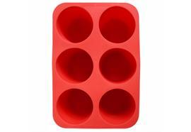Eisform für 6 zylindrische Würfel (rot) / Cylindrical Ice Tray
