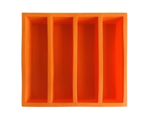 """Eisform für Eisstangen """"Collins"""" (orange) / Collins Ice Mold 13cm (4 Stangen pro Form)"""