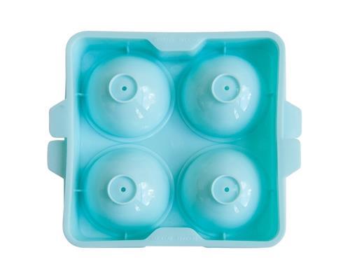 Eisform für große Eiskugeln (hellblau) / Ice Ball Mold 5cm (4 Kugeln pro Form)
