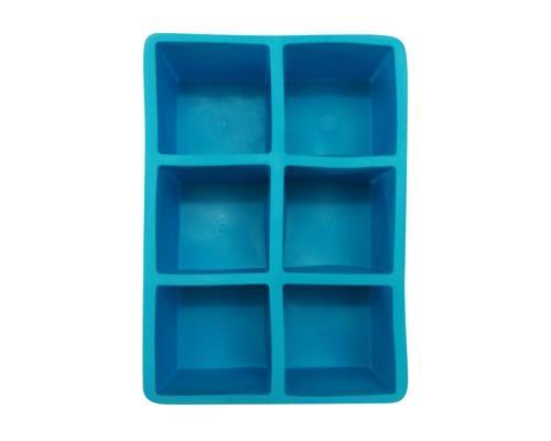 Eisform für grosse Eiswürfel (blau)/Ice Cube Tray 5cm x 5cm (6 Würfel pro Form)